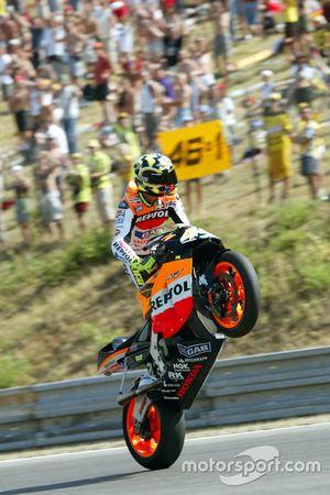Valentino Rossi, Honda, vainqueur de la course