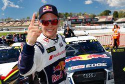 Le vainqueur Mattias Ekström, EKS, Audi S1 EKS RX Quattro