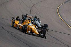Graham Rahal, Rahal Letterman Lanigan Racing Honda, J.R. Hildebrand, Ed Carpenter Racing Chevrolet