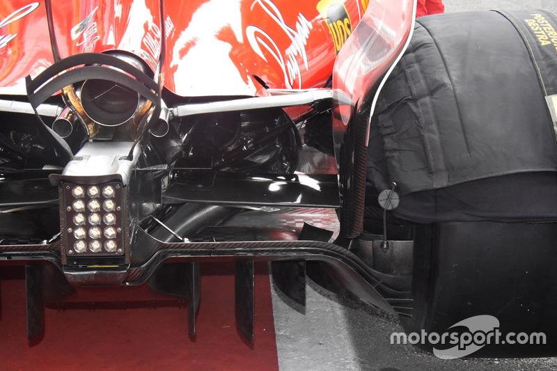 Ferrari SF70H detalle de difusor