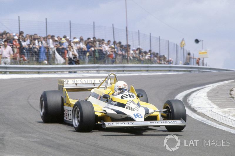 15º René Arnoux, Renault RE30, Dijon 1981. Tiempo: 1:05.950