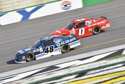 Brennan Poole, Chip Ganassi Racing Chevrolet, Garrett Smithley, JD Motorsports Chevrolet