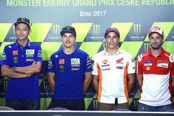 Valentino Rossi, Yamaha Factory Racing, Maverick Viñales, Yamaha Factory Racing, Marc Marquez, Repsol Honda Team, Andrea Dovizioso, Ducati Team
