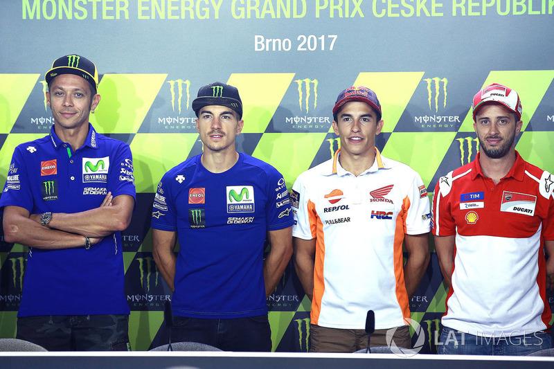 Valentino Rossi, Maverick Vinales, Marc Marquez dan Andrea Dovizioso