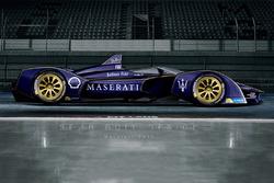 Rendering di fantasia della Maserati di Formula E