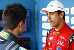 Mitch Evans, Jaguar Racing, and Lucas di Grassi, ABT Schaeffler Audi Sport