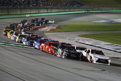 Kyle Benjamin, Joe Gibbs Racing Toyota and Ryan Preece, Joe Gibbs Racing Toyota leads the field