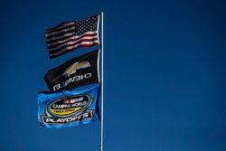John Hunter Nemechek, SWM-NEMCO Motorsports Chevrolet flags