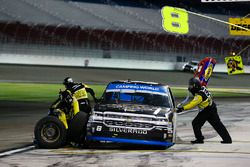 John Hunter Nemechek, SWM-NEMCO Motorsports Chevrolet pit stop