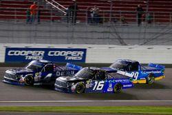 Christopher Bell, Kyle Busch Motorsports Toyota, Ryan Truex, Hattori Racing Enterprises Toyota and C