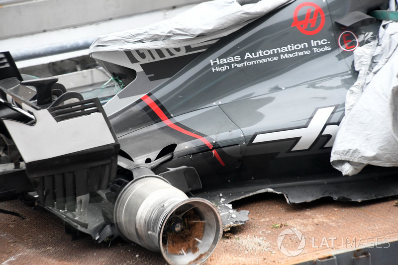 El accidente de Romain Grosjean, Haas F1 Team VF-17