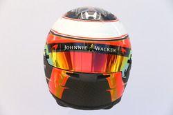 The helmet of Stoffel Vandoorne, McLaren