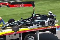Unfallauto von Josef Newgarden, Team Penske, Chevrolet