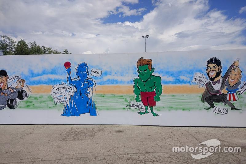 Gran Premio de España: una caricatura sobre los pilotos de F1