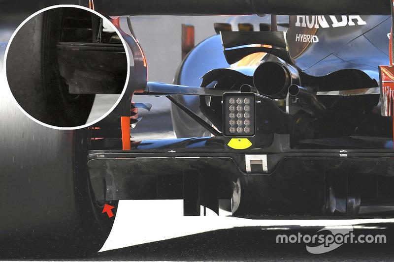 Détails de l'arrière de la McLaren MCL32