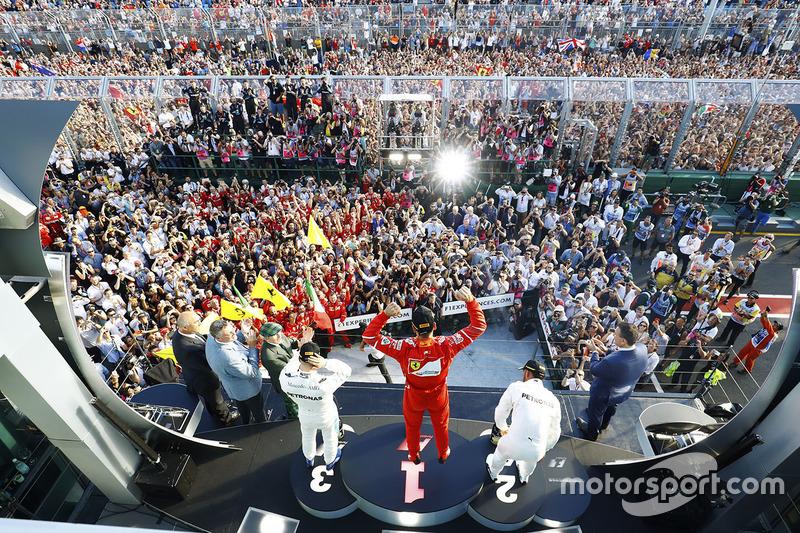 Sebastian Vettel, Ferrari, Lewis Hamilton, Mercedes, Valtteri Bottas, Mercedes