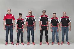 Marco Melandri und Chaz Davies, Ducati Team mit dem Team