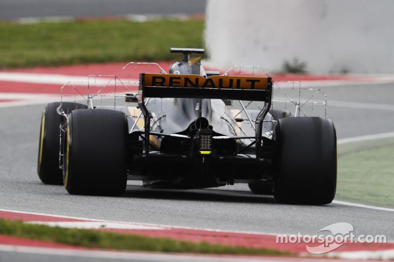 Paneles aerodinámicos en el Renault Sport F1 Team