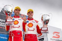 Race winner Fabian Coulthard, Team Penske Ford, second place Scott McLaughlin, Team Penske Ford