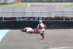 Takaaki Nakagami, Idemitsu Honda Team Asia, crash