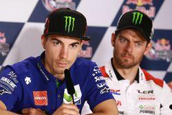 Maverick Viñales, Yamaha Factory Racing; Cal Crutchlow, Team LCR Honda