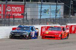 Daniel Suárez, Joe Gibbs Racing, Toyota; Justin Allgaier, JR Motorsports, Chevrolet