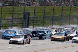 Daniel Suarez, Joe Gibbs Racing Toyota, Brennan Poole, Chip Ganassi Racing Chevrolet, Matt Tifft, Joe Gibbs Racing Toyota crash
