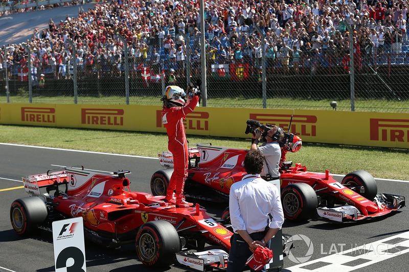 Hungría 2017: su segunda pole del año, su tercera junto a Ferrari, en doblete rojo.