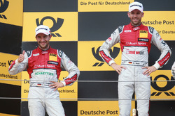 Podium: Race winner René Rast, Audi Sport Team Rosberg, Audi RS 5 DTM, second place Mike Rockenfeller, Audi Sport Team Phoenix, Audi RS 5 DTM