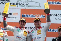 Podium: 1. #1 Montaplast by Land-Motorsport, Audi R8 LMS: Connor De Phillippi, Christopher Mies
