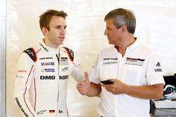 Timo Bernhard, Porsche Team with Fritz Enzinger, Head of Department LMP1 Porsche Team