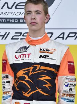 Podium: Race winner Richard Verschoor