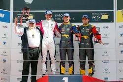 Race 2 podium: winner #9 Team Marc VDS Renault RS01: Fabian Schiller, second place #3 R-ace GP Racing Renault RS01: Fredrik Blomstedt, third place #15 Team Marc VDS Renault RS01: Fran Rueda