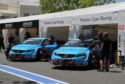 Robert Dahlgren, Polestar Cyan Racing, Volvo S60 Polestar TC1 and Thed Björk, Polestar Cyan Racing,