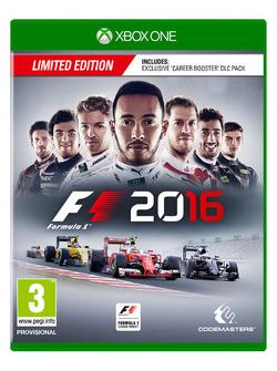 La boîte Xbox One de F1 2016