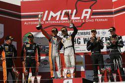 Gara 1, podio S.GT3: al secondo posto Sini-Mugelli, Solaris Motorsport, i vincitori Venturi-Gai, Black Bull Swisse Racing, al terzo posto Bortolotti-Mul, Imperiale Racing