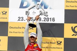 Podium: Race winner Edoardo Mortara Audi Sport Team Abt Sportsline, Audi RS 5 DTM
