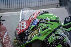 #38, LVM Motors, Kawasaki: David Henriques, Alfredo Rodrigues, Amandine Creusot