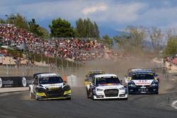 Race action, Timur Timerzyanov, World RX Team Austria; Mattias Ekström, EKS RX; Johan Kristoffersson, Volkswagen Team Sweden