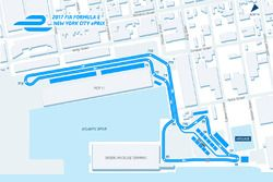 Streckenlayout: ePrix New York