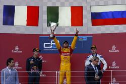 Podium: race winner Antonio Giovinazzi, PREMA Racing, second place Pierre Gasly, PREMA Racing & thir