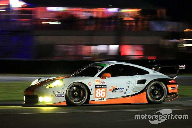 58: #86Gulf Racing Porsche 911 RSR: Michael Wainwright, Adam Carroll, Ben Barker