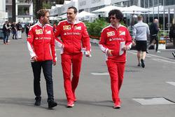 Sebastian Vettel, Ferrari con Riccardo Adami, Ferrari ingeniero de carrera