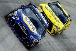 Chase Elliott, Hendrick Motorsports Chevrolet, Matt Kenseth, Joe Gibbs Racing Toyota