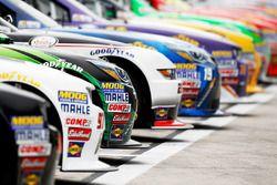 Aufstellung der Autos für das Qualifying