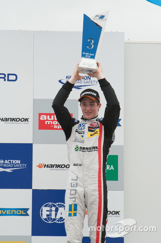 Podium: Joel Eriksson, Motopark Dallara F312 – Volkswagen