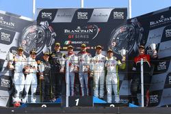 Podium : les vainqueurs Laurens Vanthoor, Frederic Vervisch, Audi R8 LMS, Belgian Audi Club Team WRT; les deuxièmes, Maximilian Buhk, Dominik Baumann, Mercedes-AMG GT3, HTP Motorsport; les troisièmes, Philipp Eng, Alexander Sims, BMW M6 GT3, Rowe Racing