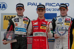 Rookie Podium: 2. Anthoine Hubert, Van Amersfoort Racing Dallara F312 – Mercedes-Benz; 1. Guanyu Zho