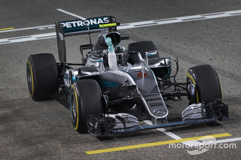 Ganador, Nico Rosberg, Mercedes AMG F1 Team W07