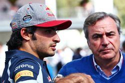 Carlos Sainz Jr., Scuderia Toro Rosso, mit Vater Carlos Sainz